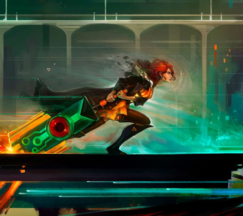 Red Run - Transistor fan art fondo de escritorio