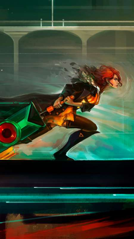Red Run - Transistor fan art Móvil Vertical fondo de escritorio