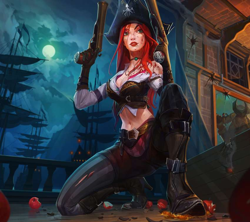 Miss Fortune fan art Móvil Horizontal fondo de escritorio