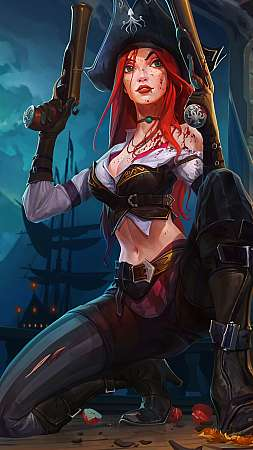 Miss Fortune fan art Móvil Vertical fondo de escritorio