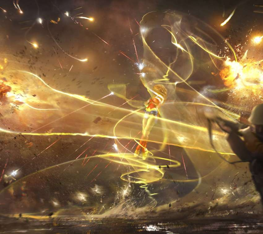 Wonder Woman concept art - Flower of Light Móvil Horizontal fondo de escritorio