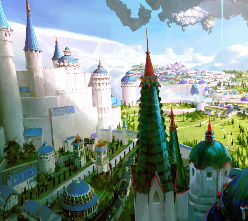 Floating Castle 2 Móvil Horizontal fondo de escritorio