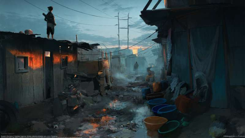 Sunset in the slums fondo de escritorio