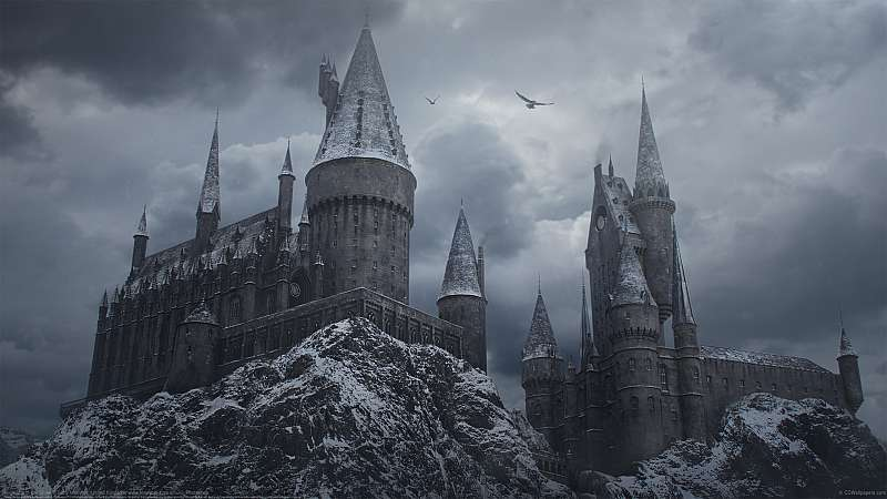 Hogwarts in the Snow fondo de escritorio